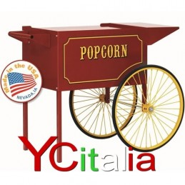 carretto per pop corn 12 oncie