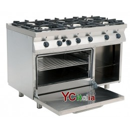 Kitchen with 6 gas burners...