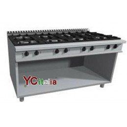 Gas kitchen with 6 burners