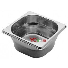 Bacinelle 1/6 GN gastronorm acciaio inox 18/10 aisi 304