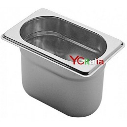 Bacinelle 1/9 GN gastronorm acciaio inox 18/10 aisi 304
